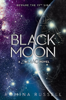 black moon, zodiac, romina russell, space, sci-fi, fantasy, young adult, romance