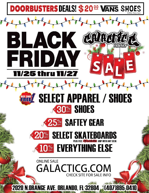 Black Friday Galacitc G Skateshop Florida