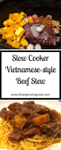 Slow Cooker Vietnamese Beef Stew pinnable image