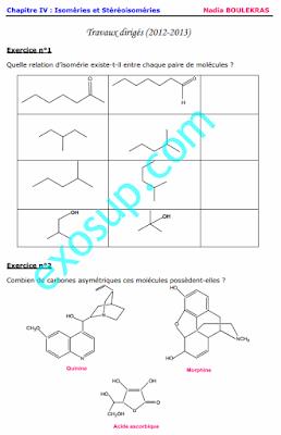 TD effets Stéréochimie S3 Isoméries et Stéréoisoméries smc smp