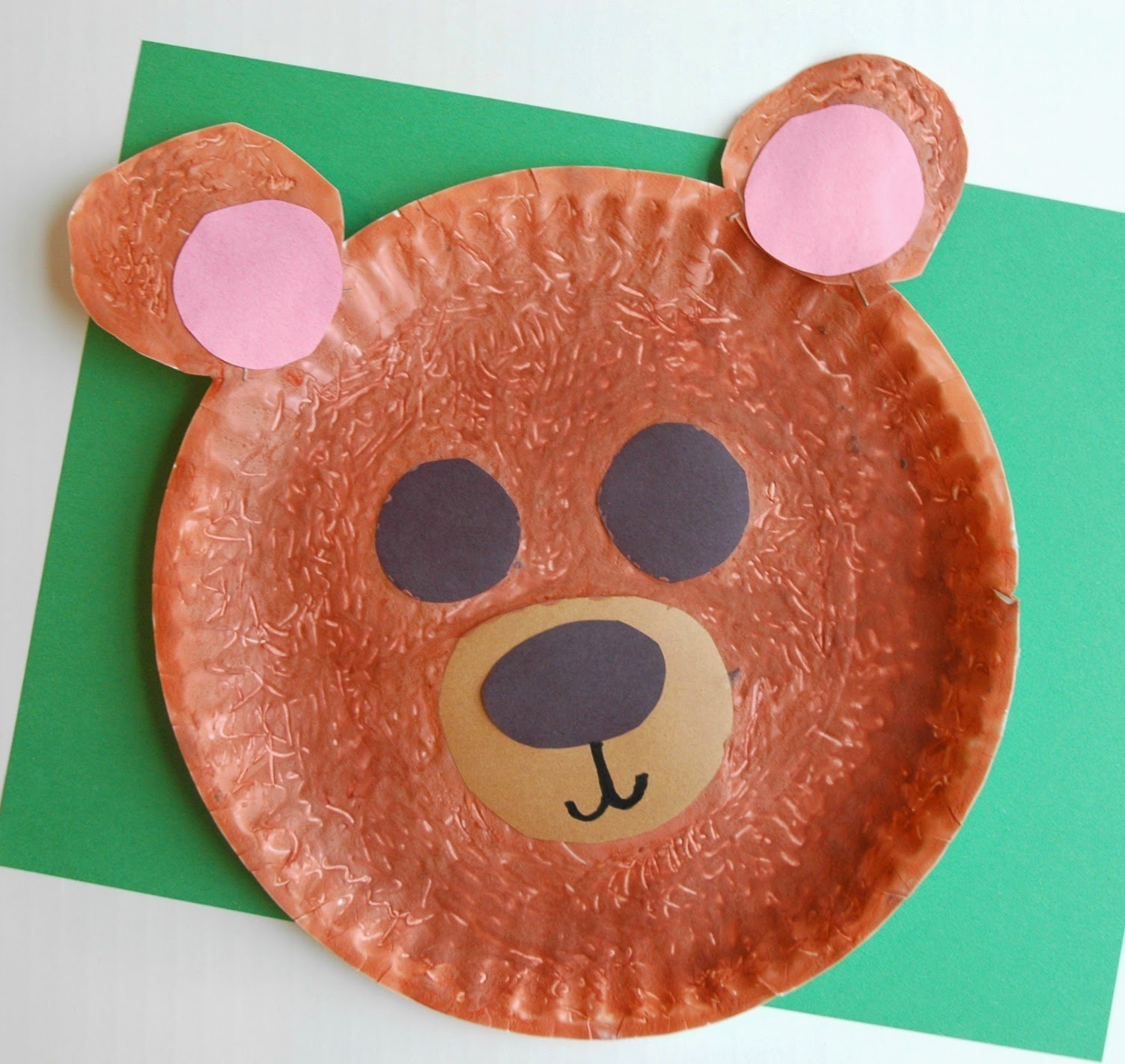 Fuzzy Brown Bear Craft | What Can We Do With Paper And Glue