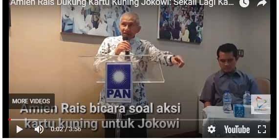 Amien Rais: Saya Kasih Kartu Merah untuk Jokowi
