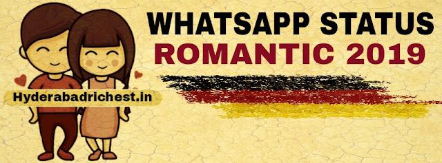 Whatsapp romantic status 2019