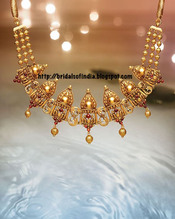 5565258b870af Fashion world: Unique Necklace design By Tanishq