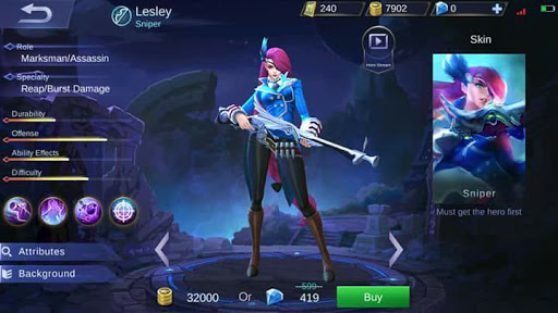 New Hero Lesley, the Sniper (Skills and Abilities)
