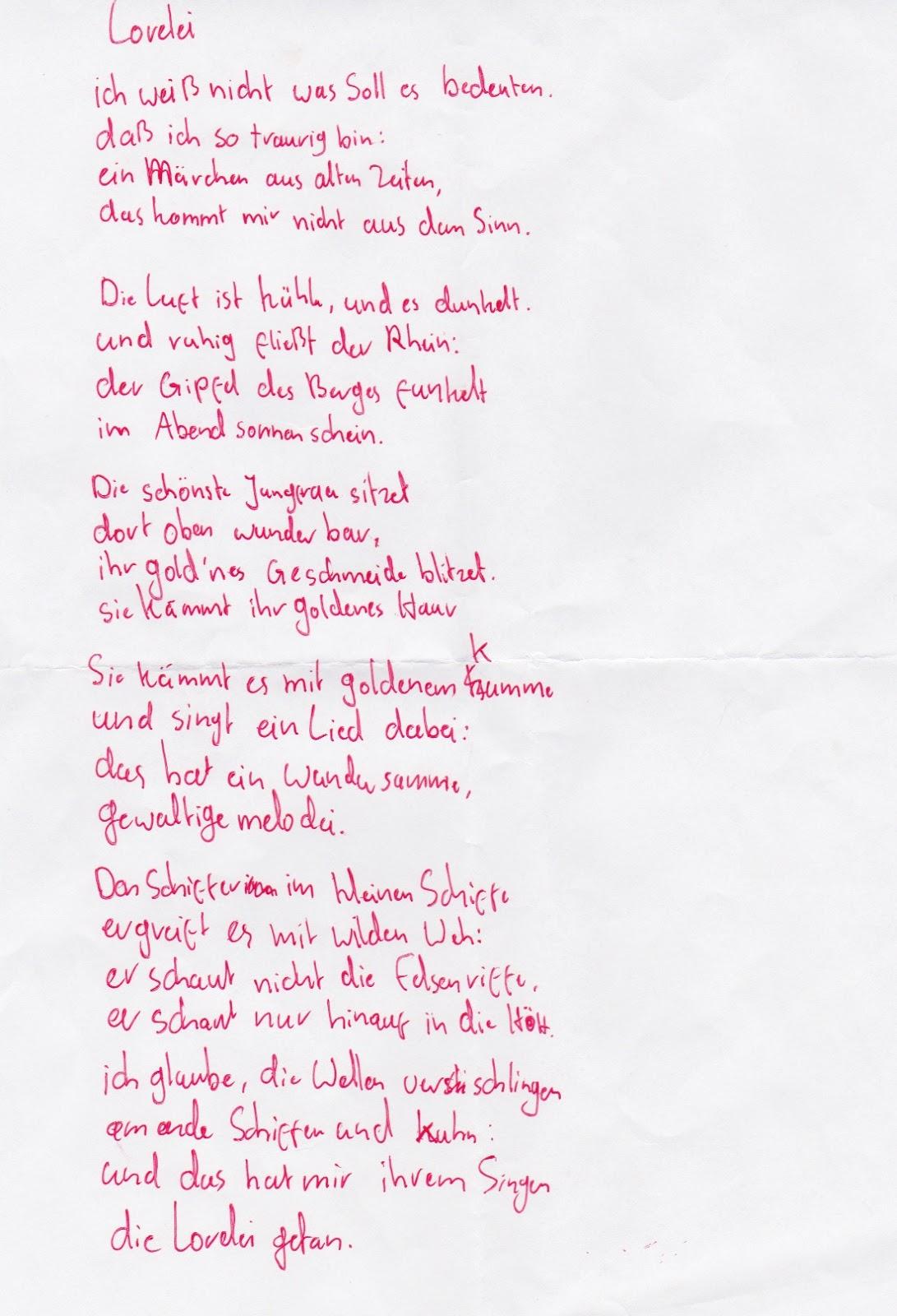 Gedicht erstes kennenlernen