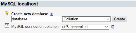 penulisan nama database baru