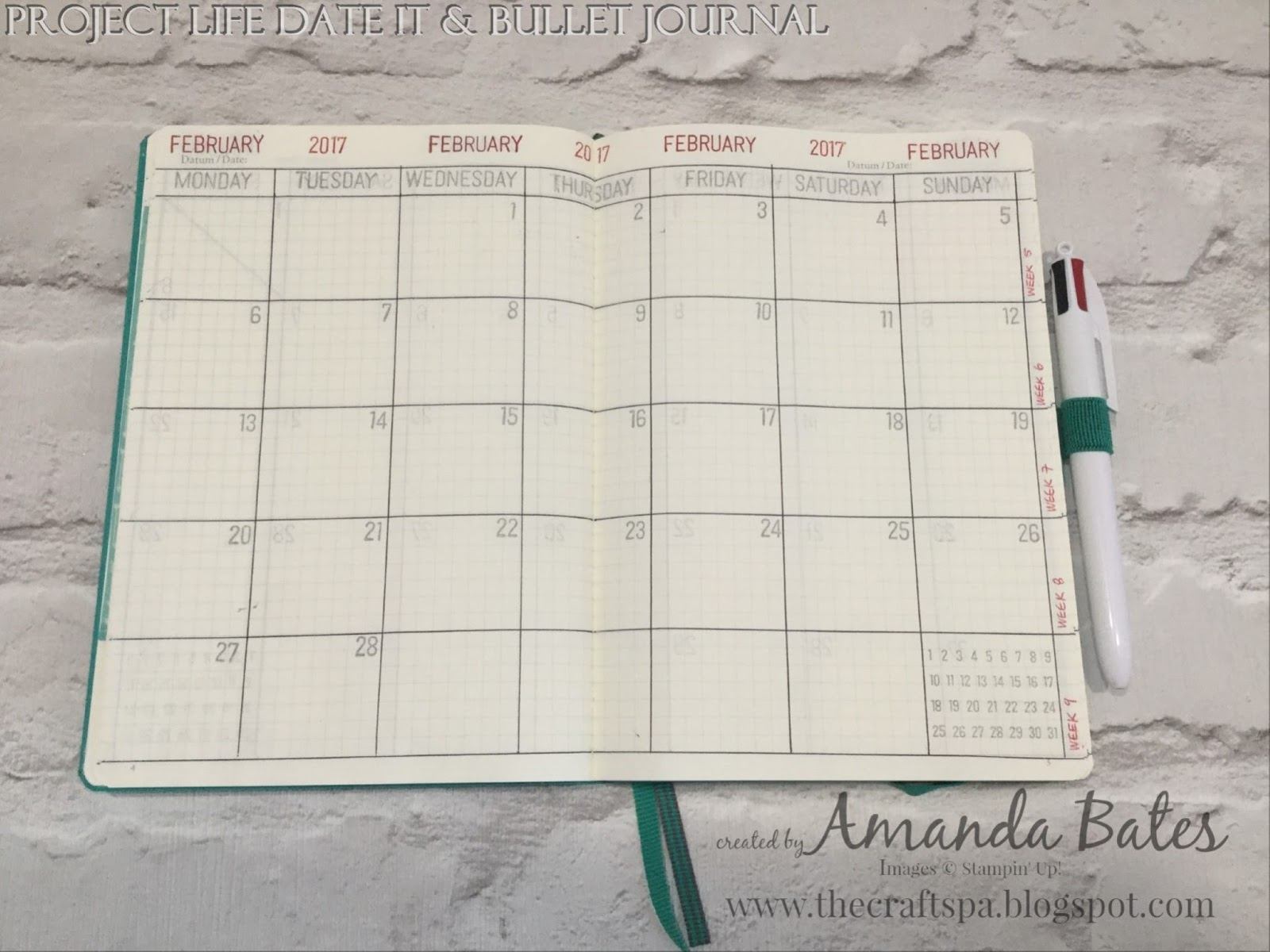 Calendar Stamp Bullet Journal : The craft spa stampin up uk independent demonstrator