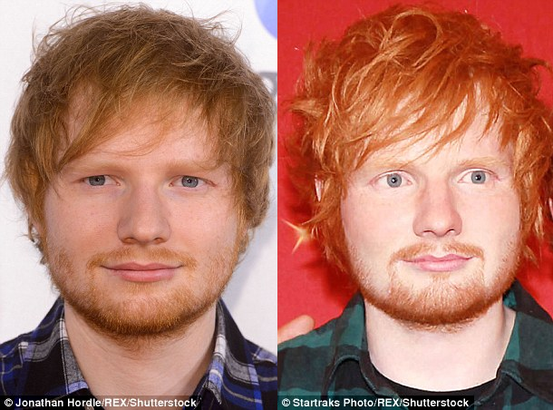 Ed Sheeran waxwork picture