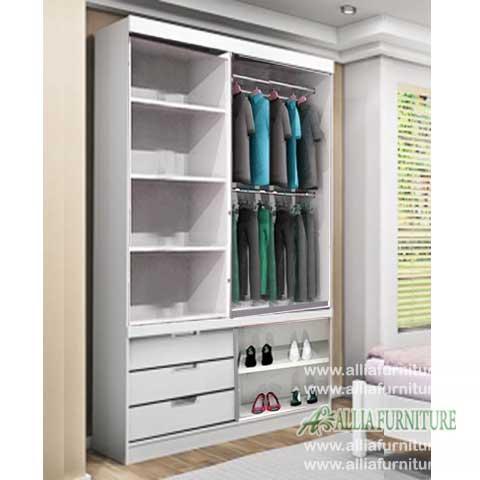 Dalam lemari pakaian minimalis 2 pintu winnie