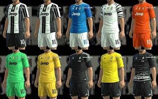 PES 2013 Juventus Kits 2016-17 and Training Kit by BKRIS