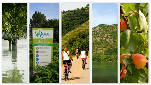 fietsroute Rhône, fietspad langs de Rhône,