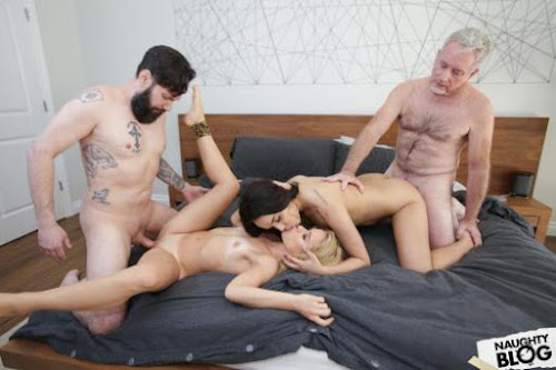 (West) Daughter Swap – Esperanza del Horno and Lilly Li Teaching Daughters To Love Dick