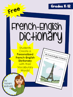 https://www.teacherspayteachers.com/Product/Free-Create-a-Personalized-French-English-Dictionary-with-Vocabulary-Words-3320961
