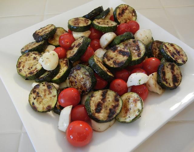 Caprese Grilled Zucchini