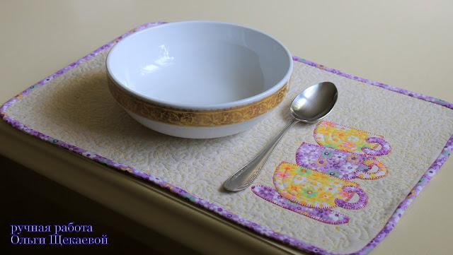 столовая салфетка, ланчмат, чашки