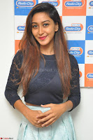 Shravya in skirt and tight top at Vana Villu Movie First Song launch at radio city 91.1 FM ~  Exclusive 166.JPG