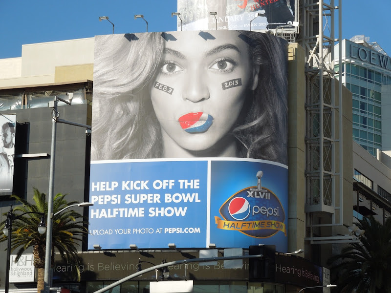 Beyonce Pepsi Super Bowl billboard