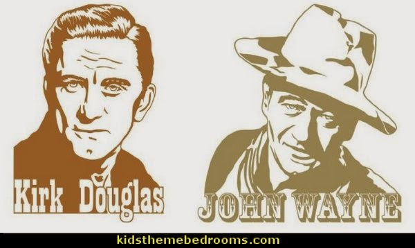John Wayne - wall decal-Kirk Douglas - wall decal, sticker, mural