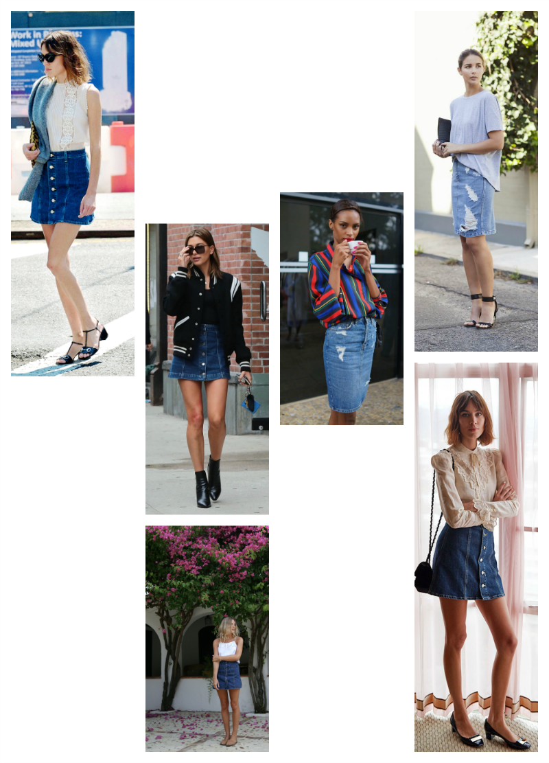 Trending: Denim skirt by post and pin