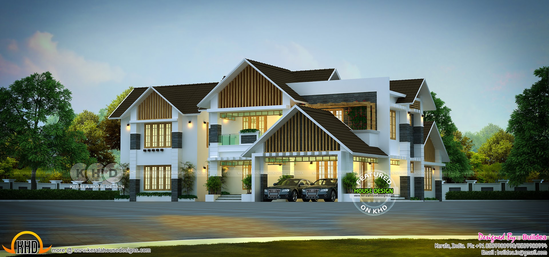 Modern Sloping Roof Luxury Residence Kerala Home Design Bloglovin