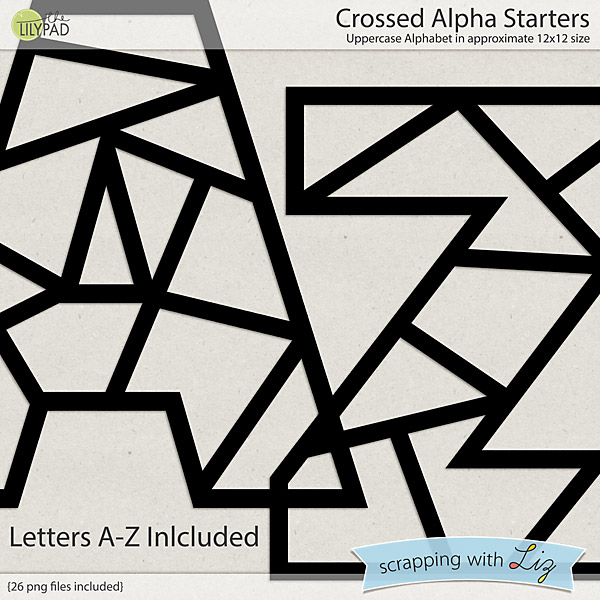 http://the-lilypad.com/store/Crossed-Alpha-Digital-Scrapbook-Starters.html