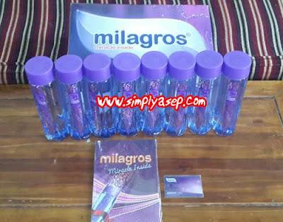Minuman kesehatan Milagros.  Foto Asep Haryono