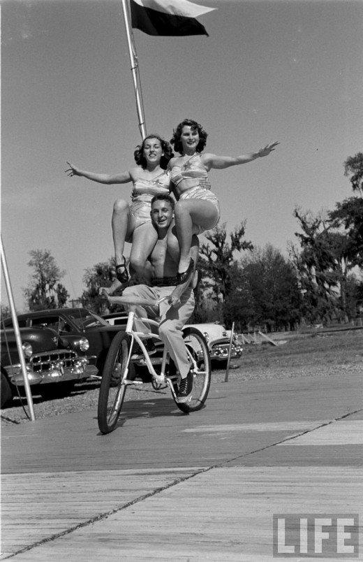 Circus Girls, Florida State University, 1952 ~ vintage ...