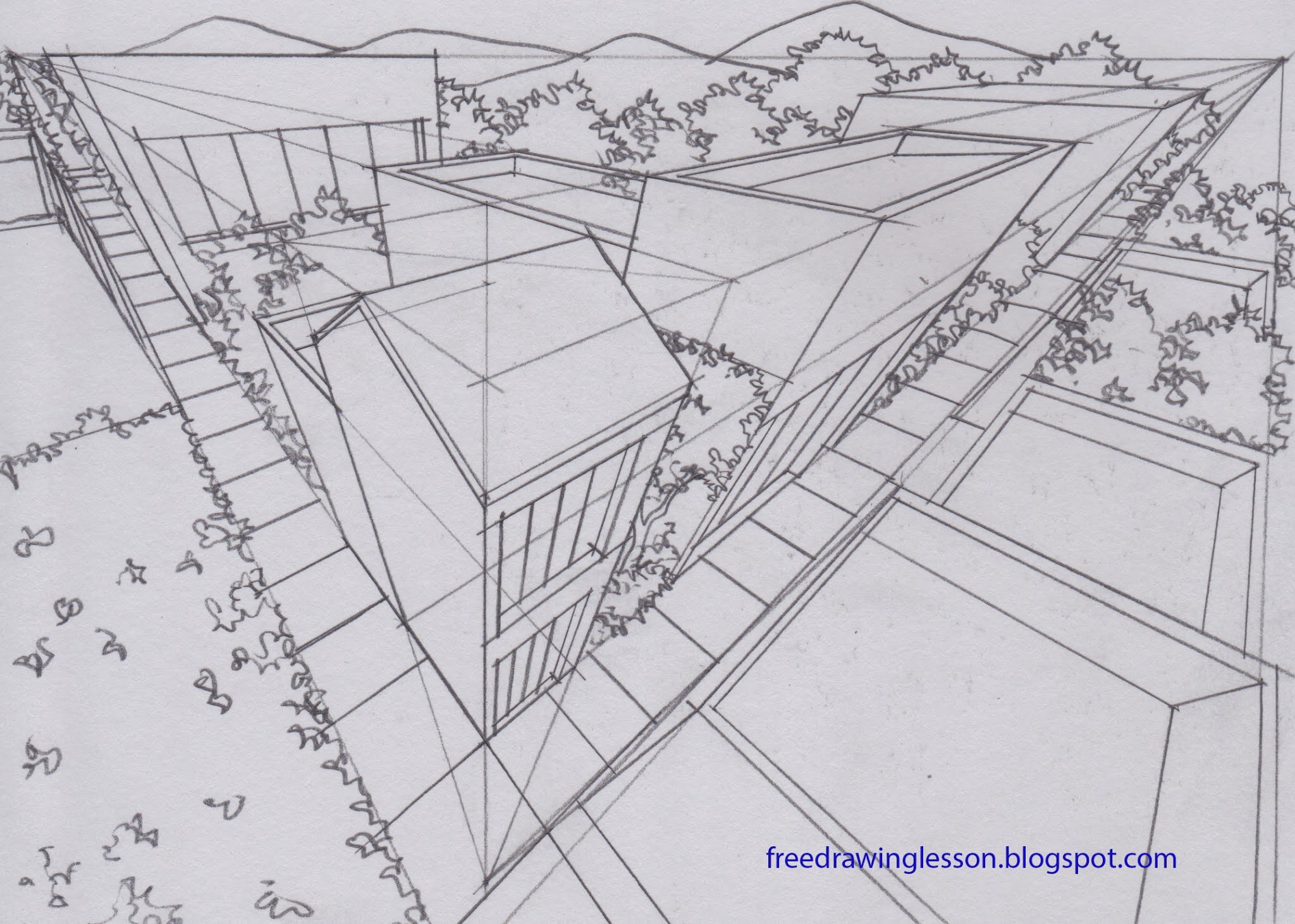 Küche Perspektive Zeichnen Draw Buildings In Three Point Perspective Learn To Draw