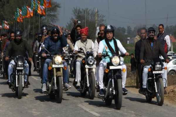 amit-shah-bike-rally-in-jind-cm-khattar-appeal-to-follow-traffic-rule