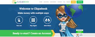 cliquebook لربح يومى نصف دولار من الاعلانات فقط + اثبات الدفع الشخصى