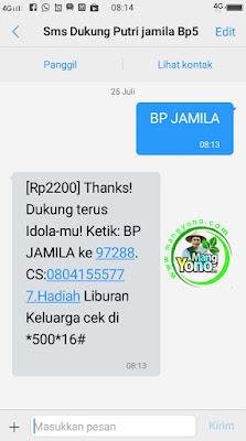 BP JAMILA  Kirim SMS ke 97288