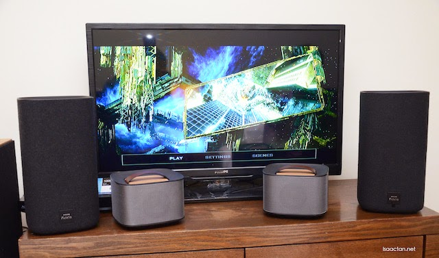 Moving on to the Philips Fidelio E5 Home Surround System