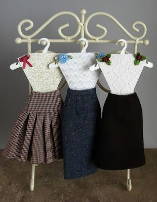 DIY skirt hangers for the Gene Marshall fashion doll