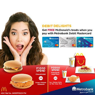 Free McDonald's Treats, Metrobank Debit Delights Promo, Philippines promo, contest and more