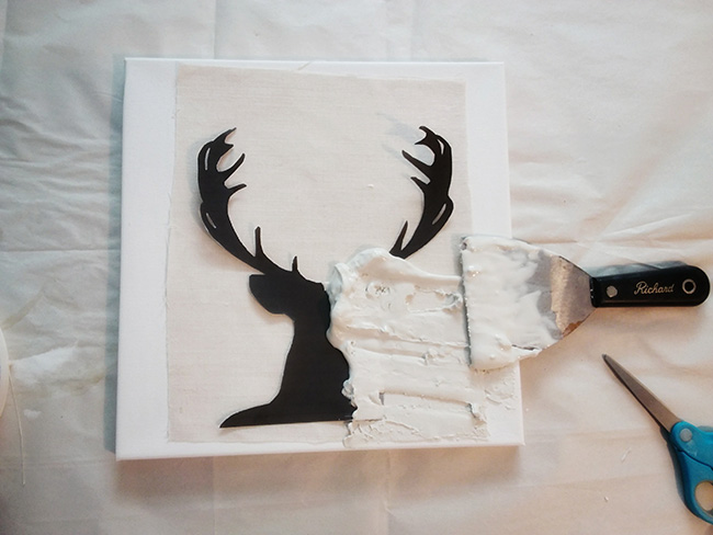 Step by Step Easy DIY Deer Art | Free Template | Cheap | Wall art | Home decor | $100 Room Challenge Deer Art