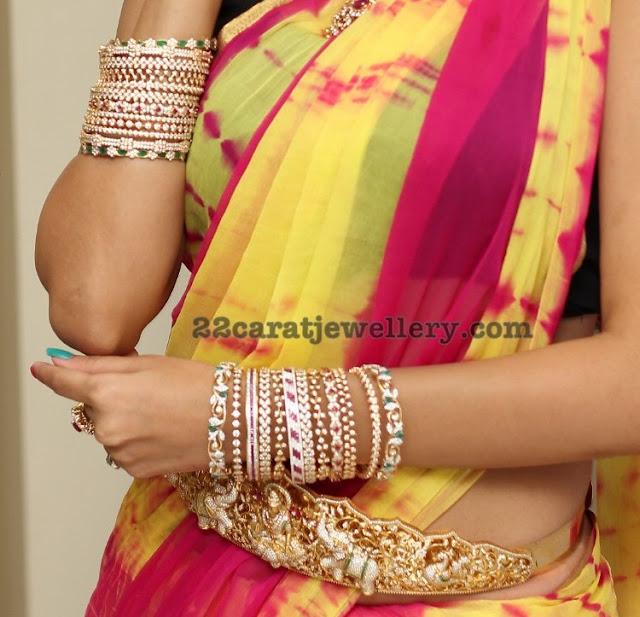Swetha Jadhav in Mango Necklace