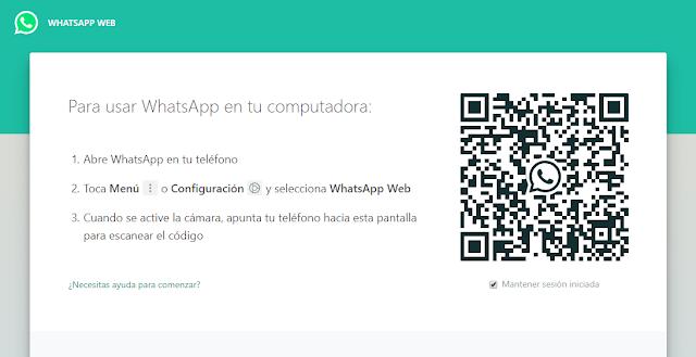 acceso a whatsapp web por codigo qr