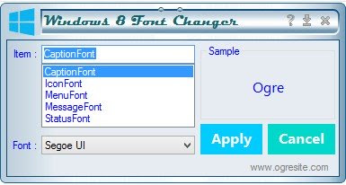 Mengganti Font Windows 8