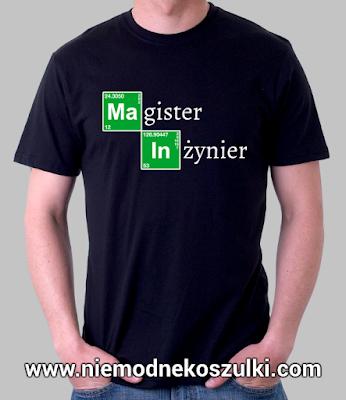 koszulka Magister Inżynier - prezent z okazji obrony