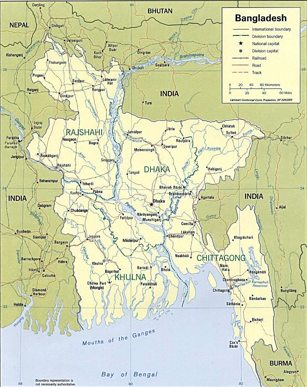 image: Bangladesh Political Map