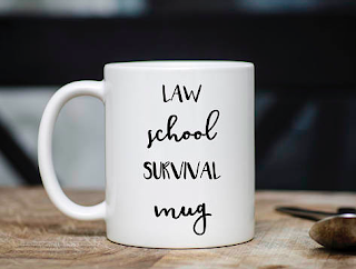 Law School Survival coffee mug | brazenandbrunette.com