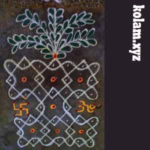 kolam with 7 dots images