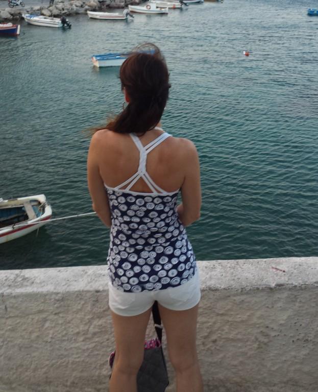 Trägershirt mit geflochtenem Rücken