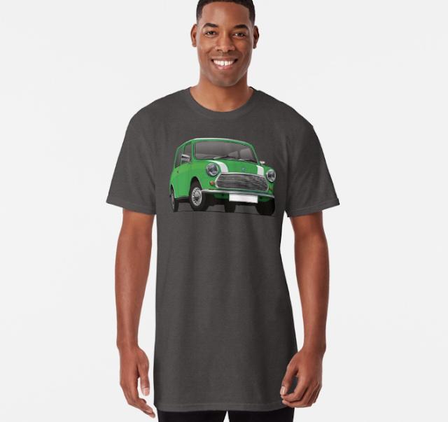 Morris Mini fanipaita vihreä