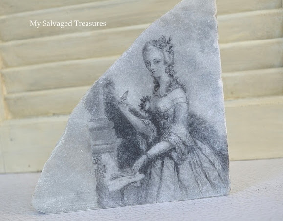 transfer an image to a broken piece of marble