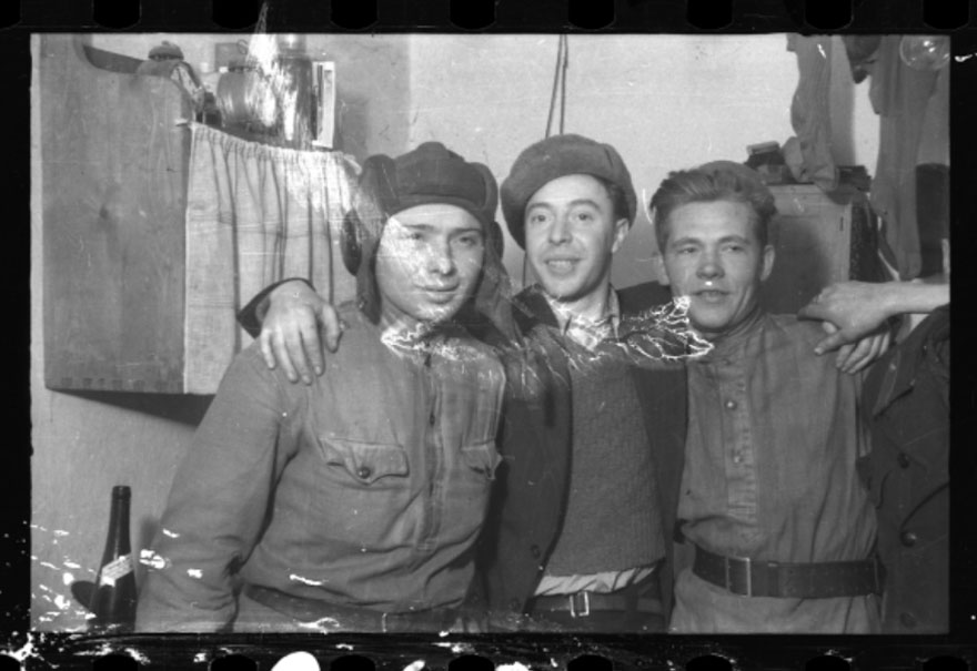 These 32 Pictures Had Been Buried For Years. The Reason Is Heart-Breaking - 1945: Three Men After Liberation By The Red Army