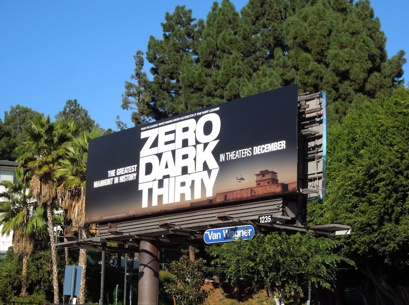 Zero Dark Thirty billboard