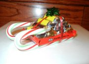 Candy bar sled ornaments