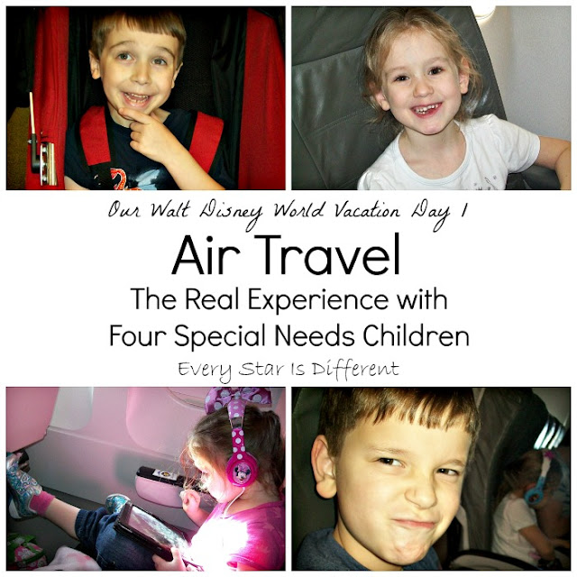 Our Walt Disney World Vacation Day 1:  Air Travel and Check-in at our Resort with Four Special Needs Children